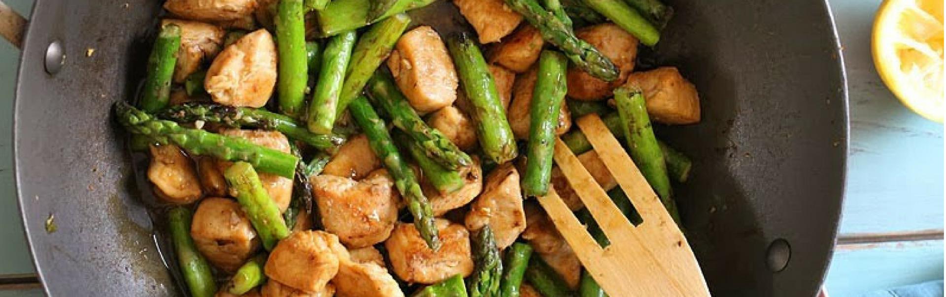Chicken and Asparagus Lemon Stir Fry