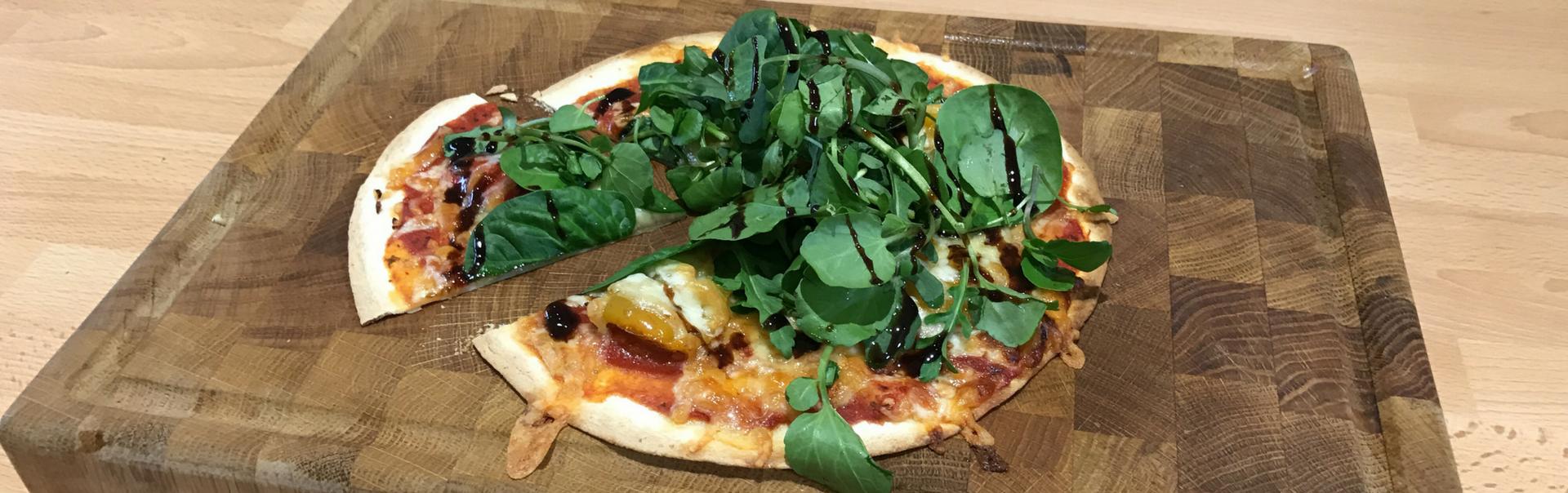 Simple, Healthy Pizza Tortillas