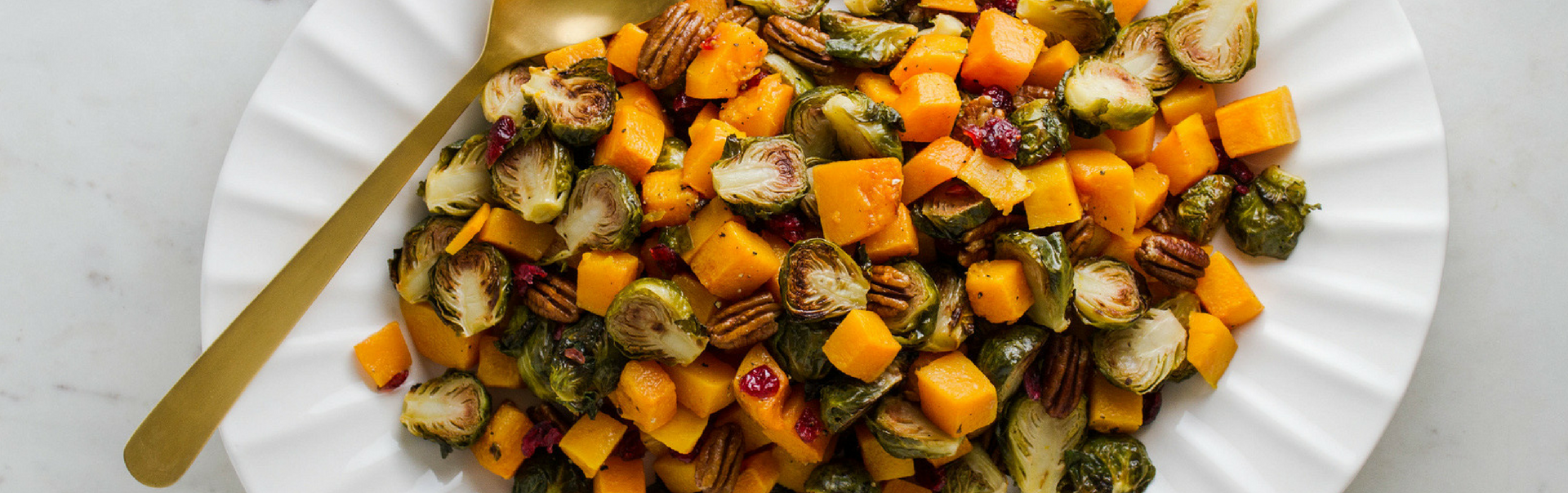 Roasted Brussel Sprouts, Squash, Cranberries & Pecans