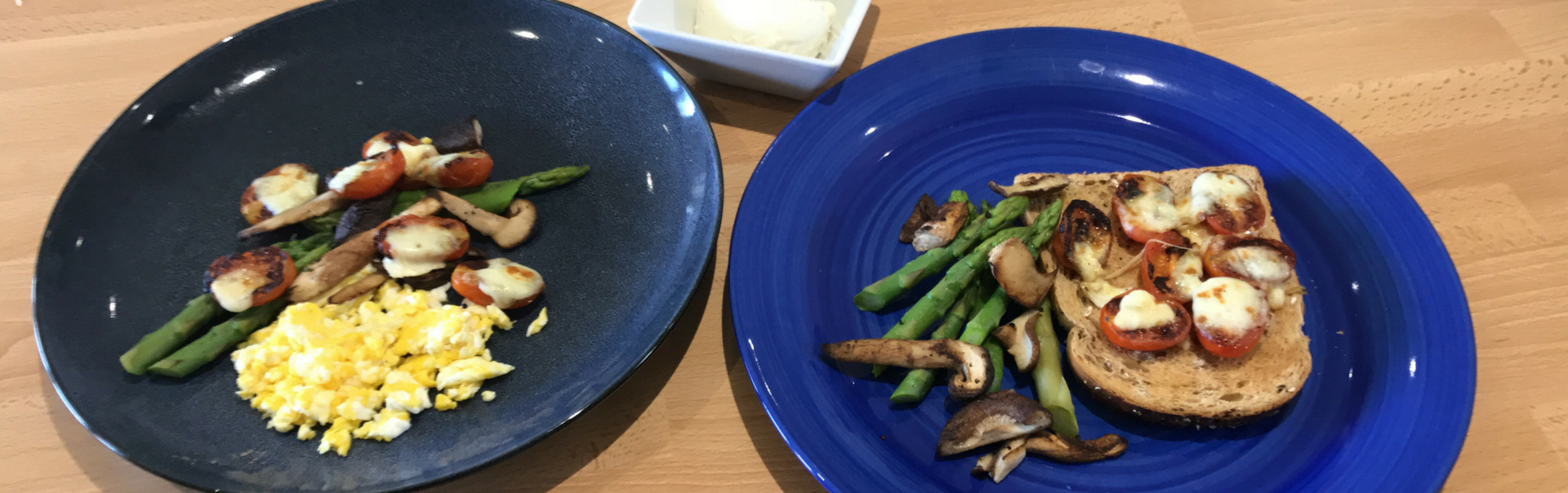 Wild Asparagus and Cheese on Toast-