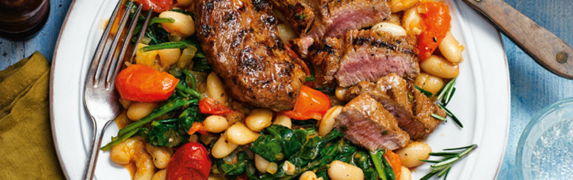 Zesty Lamb With Cannellini Beans