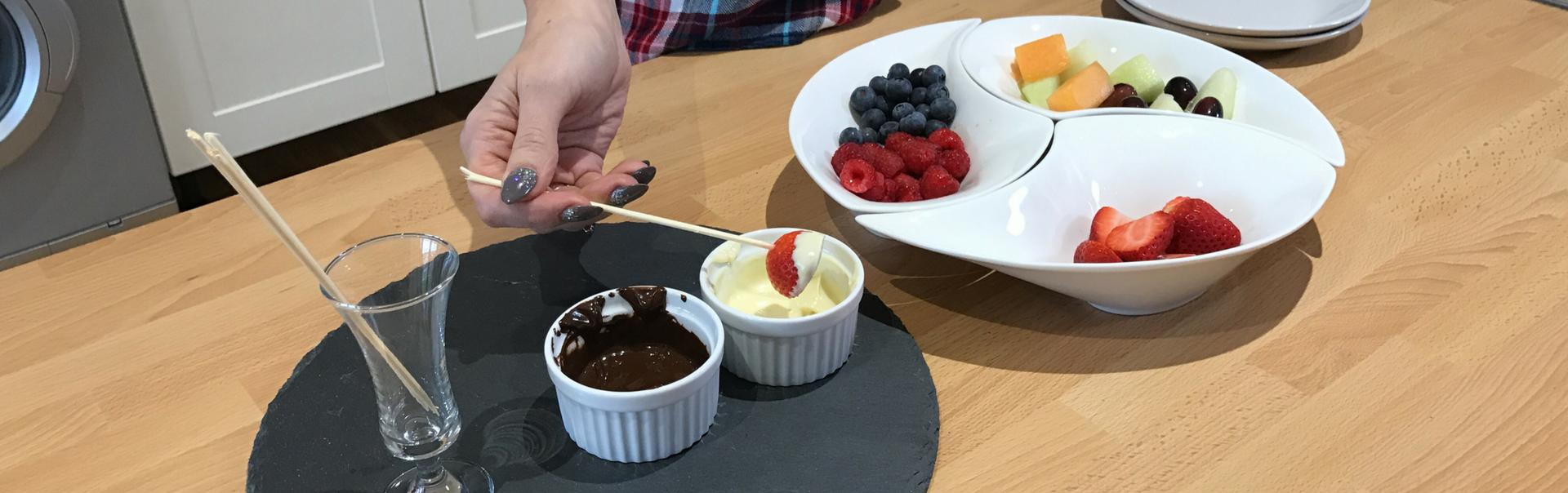 healthy fruit fondue