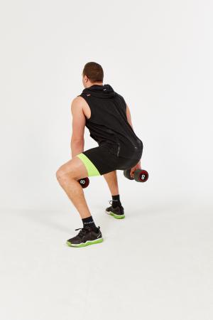 rotational dumbbell squat  gymcube