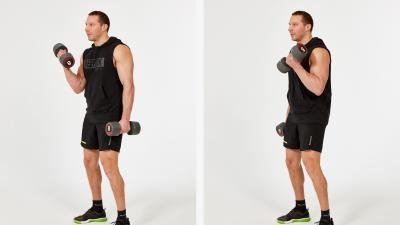 GymCube, exercise library, kevin foster-wiltshire, online fitness, workouts, videos, Alternating-dumbbell-bicep-curls
