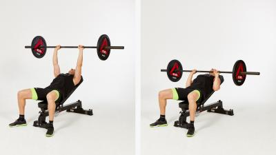 GymCube, exercise library, kevin foster-wiltshire, online fitness, workouts, videos, Barbell-Incline-narrow-grip-press