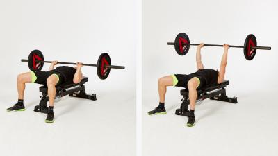GymCube, exercise library, kevin foster-wiltshire, online fitness, workouts, videos, Barbell-Narrow-flat-Bench