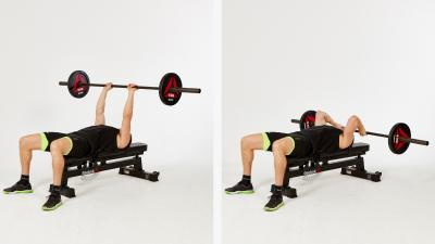 GymCube, exercise library, kevin foster-wiltshire, online fitness, workouts, videos, Barbell Skull Crushers