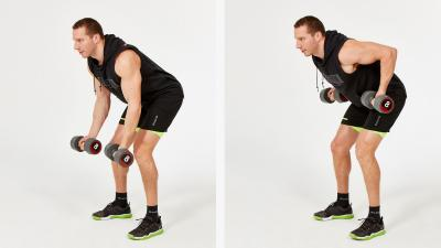 GymCube, exercise library, kevin foster-wiltshire, online fitness, workouts, videos, Bent-over-underheand-dumbbell-row
