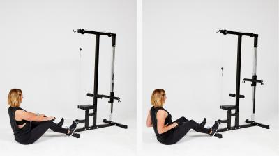GymCube, exercise library, kevin foster-wiltshire, online fitness, workouts, videos, Cable Row