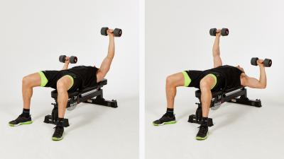 GymCube, exercise library, kevin foster-wiltshire, online fitness, workouts, videos, Dumbbell-flat-alternating-press