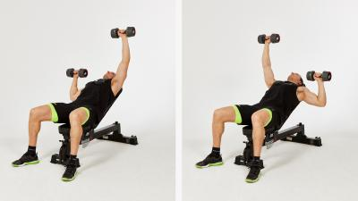 GymCube, exercise library, kevin foster-wiltshire, online fitness, workouts, videos, Incline-bench-Alternating-dumbbell-press