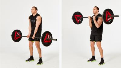 GymCube, exercise library, kevin foster-wiltshire, online fitness, workouts, videos, Narrow Grip Bicep Curl With Barbell