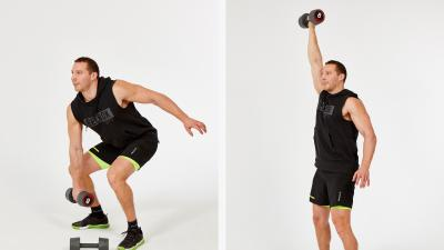 GymCube, exercise library, kevin foster-wiltshire, online fitness, workouts, videos, Dumbbell Clean and jerk