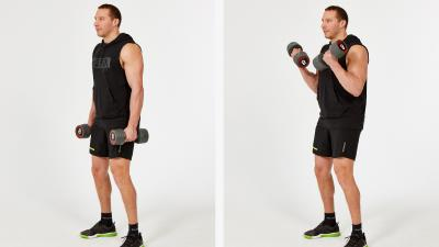 GymCube, exercise library, kevin foster-wiltshire, online fitness, workouts, videos, Dumbbell-bicep-curls