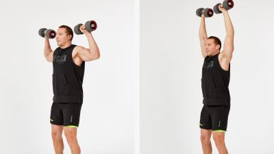 GymCube, exercise library, kevin foster-wiltshire, online fitness, workouts, videos, Dumbbell shoulder press