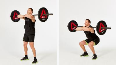 GymCube, exercise library, kevin foster-wiltshire, online fitness, workouts, videos, Front Squat