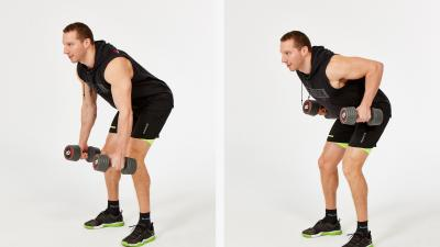 GymCube, exercise library, kevin foster-wiltshire, online fitness, workouts, videos, Narrow bent over dumbbell row